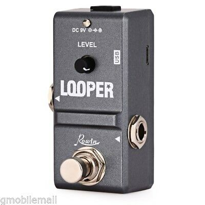 ROWIN Tiny Nano Looper Guitar Effector with USB Cable for Musical Instrument