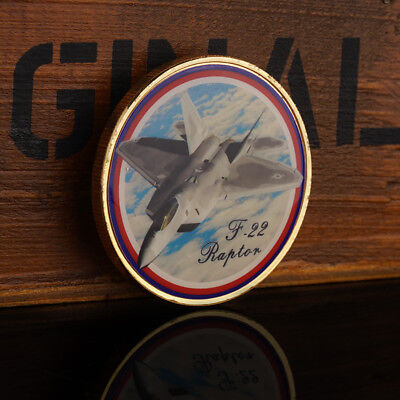 1pc United States Air Force F-22 fighter Commemorative Coin