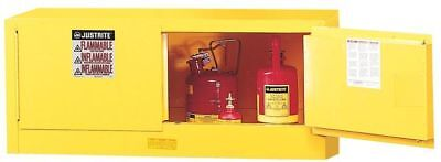 JUSTRITE 891320 Flammable Safety Cabinet, 12 Gal., Yellow
