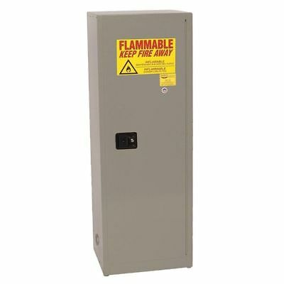 EAGLE 1923 GRAY Flammable Safety Cabinet, 24 Gal., Gray