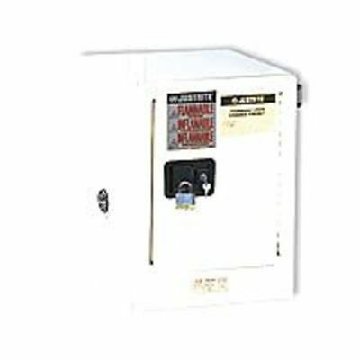 JUSTRITE 890425 Flammable Safety Cabinet, 4 Gal., White