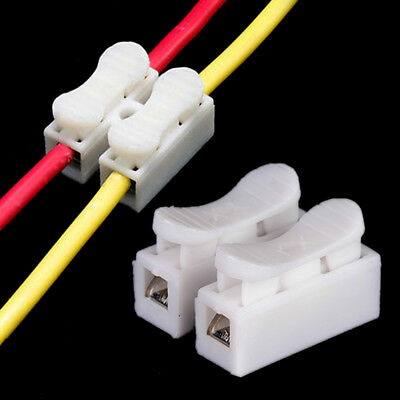 30x Electrical Cable Connectors Quick Splice Lock Wire Terminals Self Locking