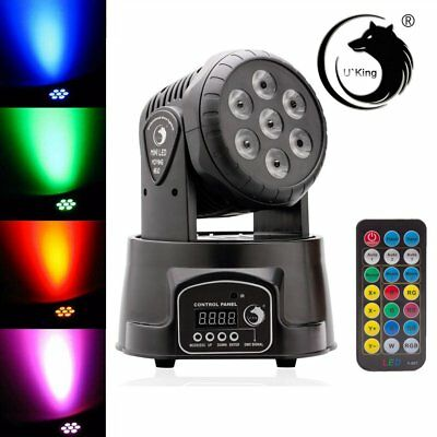 70W RGBW 7-LED Moving Head Light DMX512 DJ Club Stage Effects Lighting EU Plug