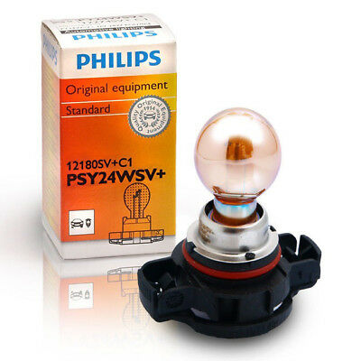 1x Philips PY24W SilverVision Bulb Signal Indicator Light