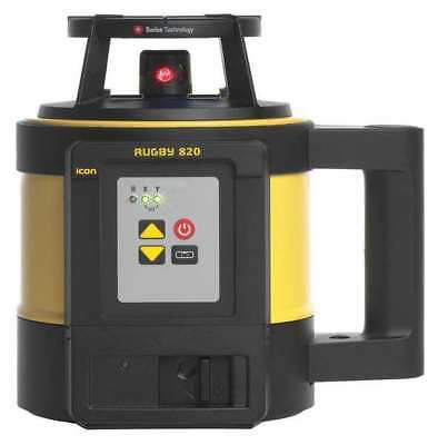 LEICA RUGBY 820 Rotary Laser Level, Int/Ext, Red, 3600 ft. G6524621