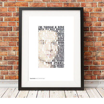 DEPECHE MODE ❤ Never Let Me Down Again ❤ song lyric poster art edition Print #11