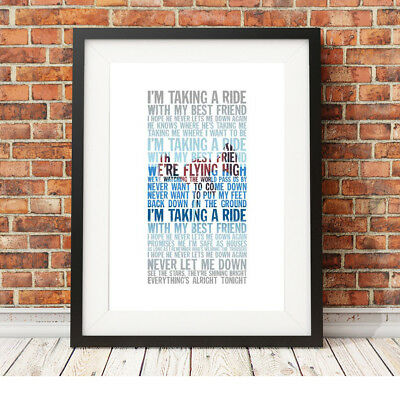 DEPECHE MODE ❤ Never Let Me Down Again ❤ song lyric poster art edition Print #13