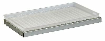 JUSTRITE 29959 SpillSlope Shelf with Tray, 19-5/8 In. W