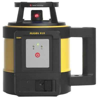 LEICA RUGBY 810 Rotary Laser Level, Ext, Red, 3600 ft. G6713682