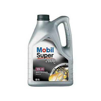 Mobil Super 2000 10w40 Part Semi Synthetic Car Engine Oil 5L