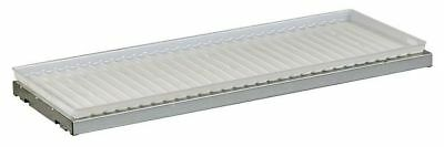 JUSTRITE 29958 SpillSlope Shelf with Tray, 39-3/8 In. W