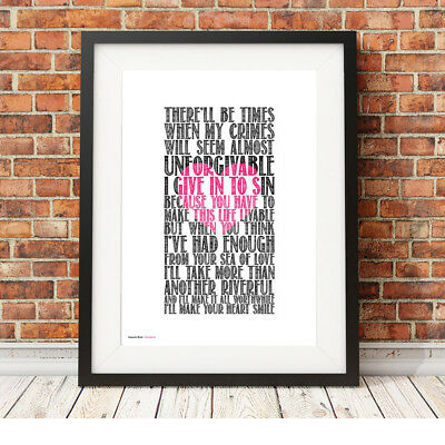 DEPECHE MODE ❤ Strangelove ❤ song lyric poster ART Limited Edition Print #22