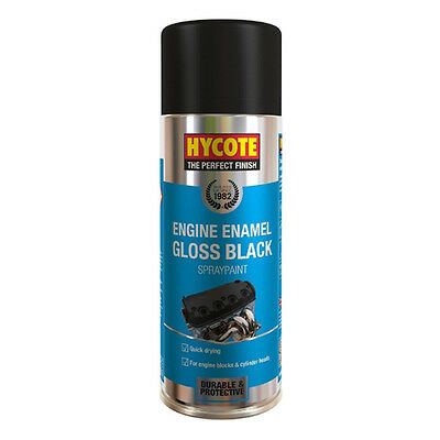 Hycote Engine Enamel Gloss Black Spray Paint 400ml