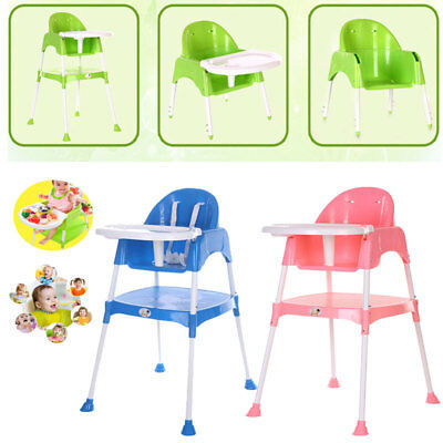 Baby Kids High Chair Convertible Table Seat Booster Toddler Feeding Highchair