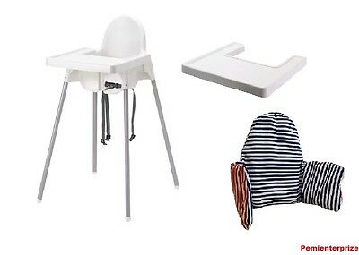 BABY HIGHCHAIR WITH SAFETY STRAPS & MATCHING TRAY IKEA ANTILOP fast dispatch