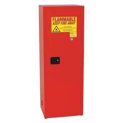 EAGLE 1923 RED Flammable Safety Cabinet, 24 Gal., Red
