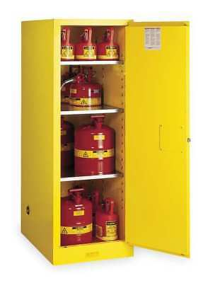 JUSTRITE 895400 Flammable Safety Cabinet, 54 Gal., Yellow