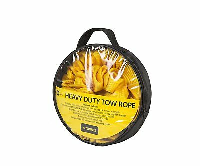 AA Official Car Essentials Strap-Style Tow Rope 4 Tonnes 4 Meters Breakdown
