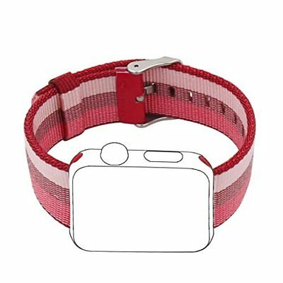 Apple Watch Band 38mm Sport Woven Nylon Fabric Stainless Steel Buckle Berry