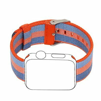 Apple Watch Band 38mm Sport Woven Nylon Fabric Stainless Steel Buckle Orange