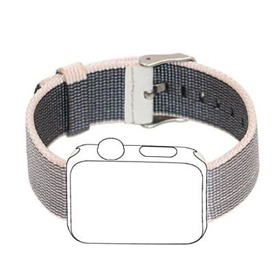 Apple Watch Band 38mm Sport Woven Nylon Fabric Stainless Steel Buckle Pearl