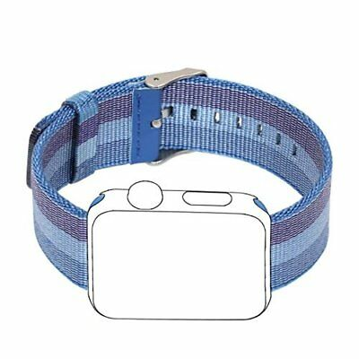 Apple Watch Band 38mm Sport Woven Nylon Fabric Stainless Steel Buckle Tahoe Blue