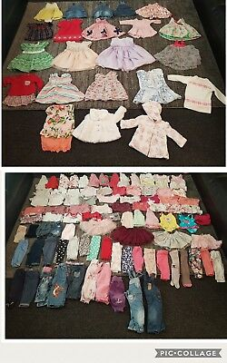 baby girls 3-6 months clothes bundle 121 items