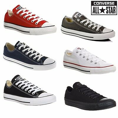 Converse Chuck Taylor All Star Low Tops Mens Womens Unisex Canvas Trainers