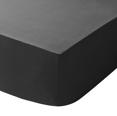 Black Double Size Fitted Sheet