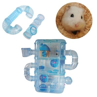Hamster External DIY Pipeline Tunnel Fittings Tube Exercise Cage Accessories New
