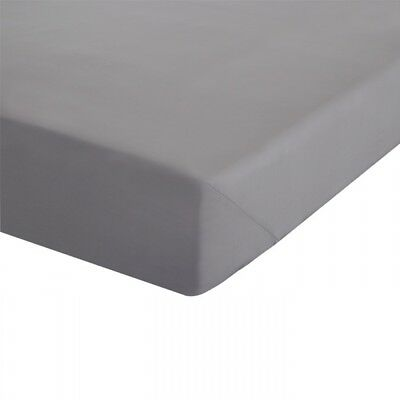 Grey Double Size Fitted Sheet