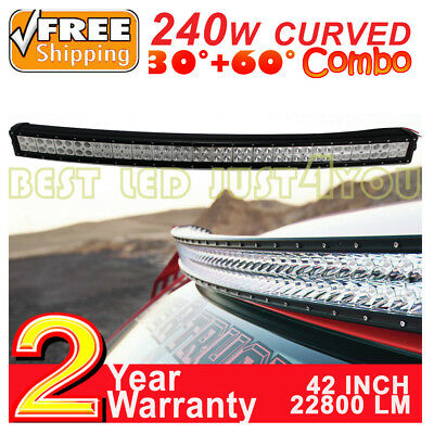 "42""inch 240W Curved Rampe Led barre Jeep Buggy offroad Light Bar SUV Quad 12V"