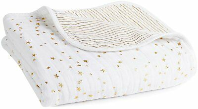 aden + anais Metallic Dream Blanket - Gold