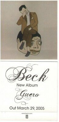 BECK 2005 guero Interscope Records promotional sticker MINT cond NEW old stock