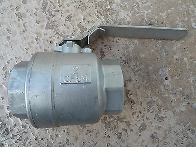 "2"" BSP STAINLESS STEEL 2 PIECE LOCKABLE BALL VALVE *Bargain Cost me £60+*"