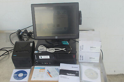 """Elo Et1515L-8Cwc-1-Gy-G 15"""" Touch Screen Pos System W/ Printer Cpu Software"""