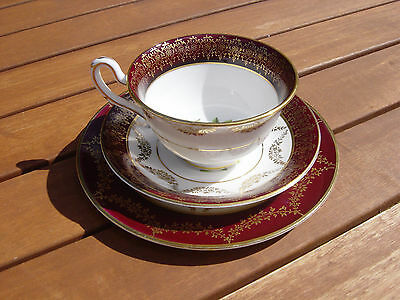 j.fryer & son ltd,tunstall exquisite 1940,s trio of cup saucer & teaplate