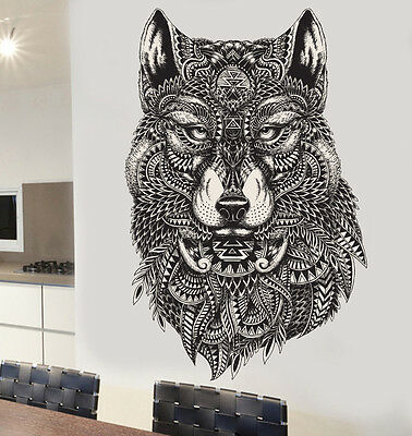 Detailed Decorative Wolf Wall Art Vinyl Stickers Decals Murals Transfers Wolves