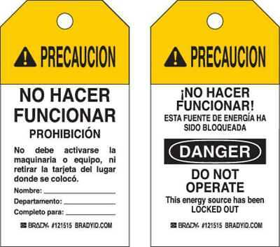 Caution Tag,5-3/4inHx3inW,Polyester,PK25