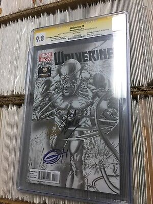 Wolverine 1 Wizard World Sacramento Cgc Ss 9.8 Greg Horn Stan Lee Sketch Variant