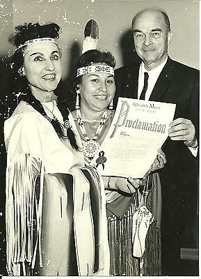Vintage Photo of Native American Indian with Dallas Texas City Mayor