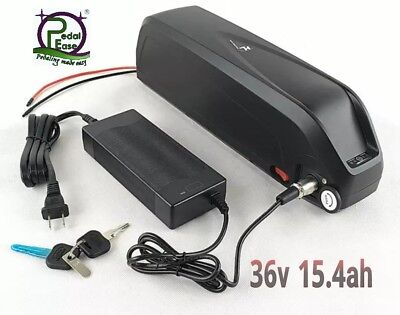36V 15Ah Hailong 36V 15.6Ah li-ion e-bike battery 2A charger New slim style