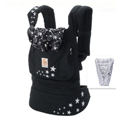 New ERGO Original Baby Carrier Galaxy black with Gray Infant Insert