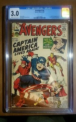 Avengers #4 (CGC 3.0) 1st Silver-Age Captain America