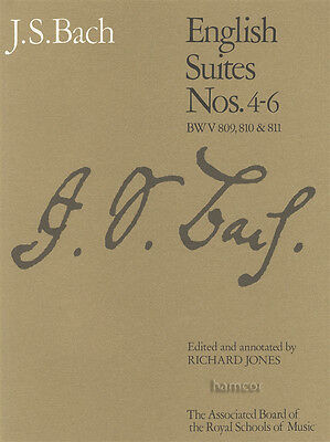 JS Bach English Suites Nos 4-6 BWV 809, 810 & 811 ABRSM Piano Sheet Music Book