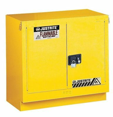JUSTRITE 883620 Flammable Safety Cabinet, 23 Gal., Yellow