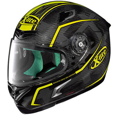 Xlite X-Lite X802R X-802Rr X802Rr Ultra Carbon Marquetry Motorcyle Helmet Yellow
