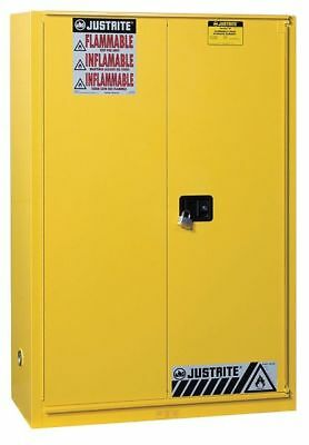 JUSTRITE 899080 Flammable Safety Cabinet, 90 Gal., Yellow