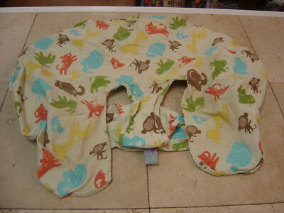 Leachco Cuddle U Nursing Pillow Cover Safari Print-Cover Only
