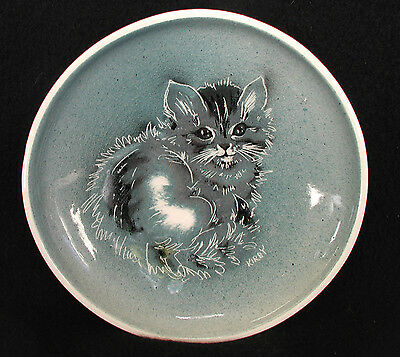 Vintage Kittens by Kirby Hand Painted Plate